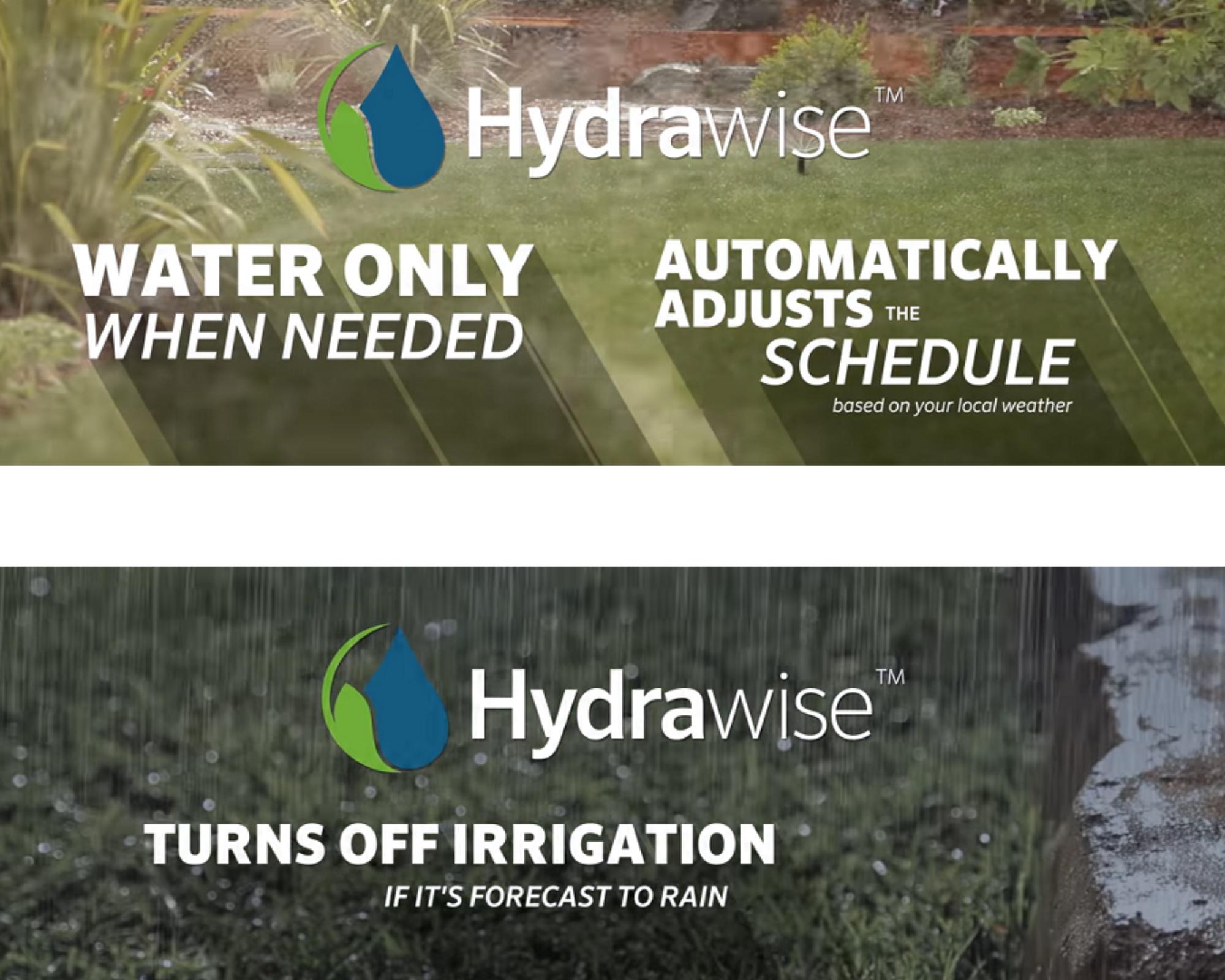 Hydrawise có nhiều tính năng tưới thông minh